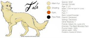 Tala Reference Sheet by NoOneCaresAboutIt