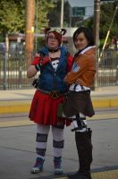 Gaige And Mikasa by thefaultinourstars