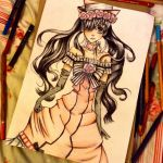 Ciel Phantomhive in a dress by Sophiethebrave
