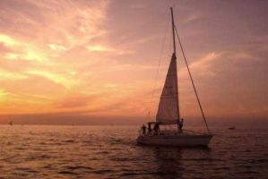 Sunset Sail by torifanning