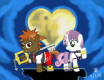 Button Belle Kingdom Hearts by JazzyTyfighter
