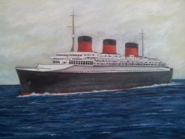 SS Normandie by Pictaview