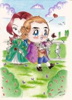 Chibi Emily and Louis by Stael