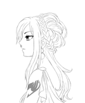 Erza portrait - lineart by AnnMY