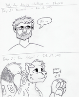 30-Day Drawing Challenge days 1, 2 by Flexico