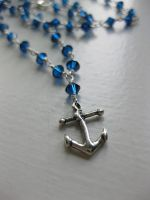 Anchor necklace by velvetacide