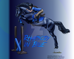 Rhapsody in Blue-Horse Picture/Greyscale Coloring by XtremeMystery