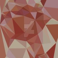 Congo Pink Abstract Low Polygon Background by apatrimonio