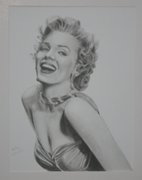 Pencil Portrait Marilyn Monroe by rafael-pencil-art