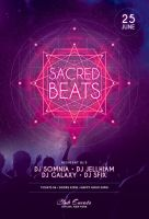 Sacred Beats Flyer by styleWish