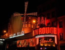 Moulin Rouge by night 1 by wildplaces