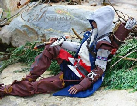 ASSASSINS CREED- Ratohnhaketon aka Connor Kenway 6 by Atelier-Cynamon