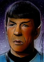 Spock Sketch Card by RandySiplon