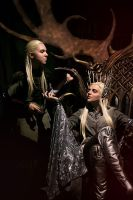 Thranduil and Legolas. Mirkwood Realm by the-ALEF