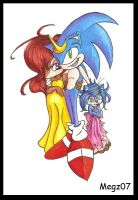 Sonic Sally and Sadie Prisma by megs83