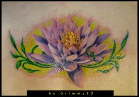 Lotos tattoo by grimmy3d