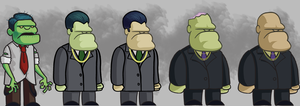 MobZombie characters by GRUESUMM