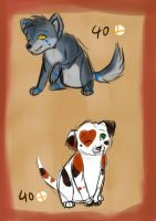 Puppy Adoptables -Closed- by KayasPawsteps