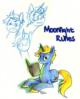 Moonlight Runes--Commission by AugustRaes