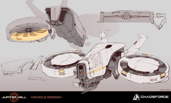 Jupiter Hell - Drone concept art by EwaLabak