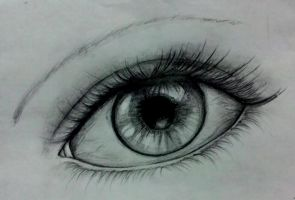 try to make realistic eye :) by darkviart