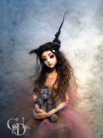 Ball jointed creepy doll toys by cdlitestudio