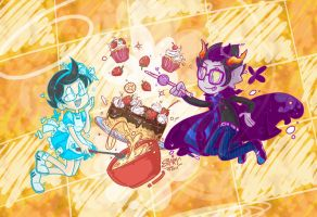 Homestuck - Jane Crocker n' Eridan 01 by sanna-mania