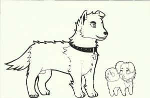 Dog Versions of Rose and Thorn by roselovehunt