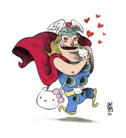 Thor love Hello Kitty by OniBaka