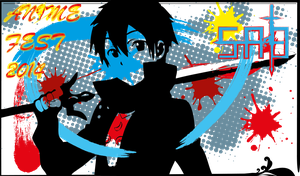 Anime Fest 2014 (Homework: example of a flyer) SAO by impraziel
