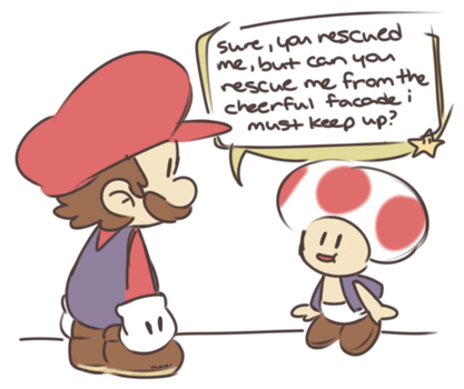 i have now drawn paper mario twice by Dededes