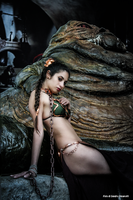 Leia And Jabba 45 by Darthsandr