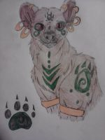 Spiritual Hyena and Paw Print by Darkbullfrog