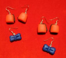 Fez and Bow Tie 2 earrings by StregattaPuponzi