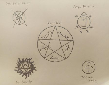 SPN Sigils by Earth-Girl-42