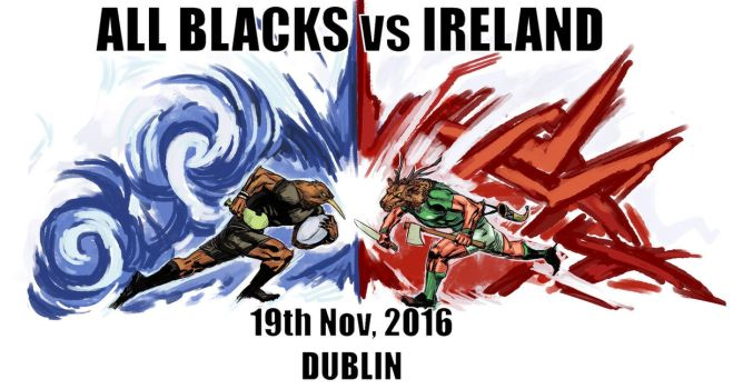All Blacks vs Ireland Round 2 by archvermin