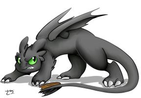 Toothless (First Attempt?) by kyanchan