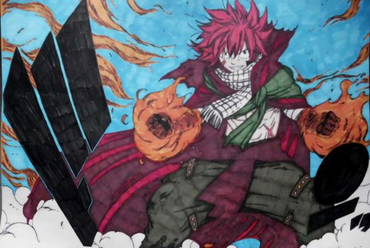 Natsu's Appearance After His Year Long Journey by Midnight9987
