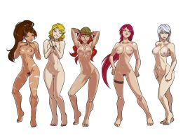 League of Legends babes - Nude version - Part 1 by Ganassa