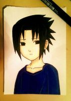 Kid Sasuke Uchiha by AjkaSketch