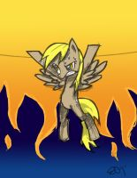 Derpy Hooves Raising the Sun by yiKOmega