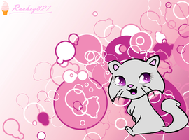 pink kitty wallpaper by Rachey827