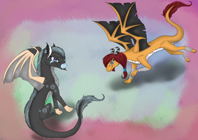 Art trade EmberNess by xNeonshadow21