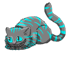 Cheshire cat pixel by StitchesX0