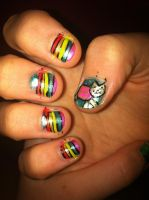 Nyan nails by jaxces