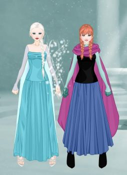 Elsa and Anna on Ascension by LadyAquanine73551