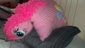 giant Pinkie Pie pillow pet - pet form by Kira-Kat