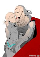 loki and thor by balusah