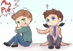 Dean loves that pie by Elfany-Chan