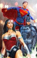 Justice Trinity: Batman, Wonder Woman, Superman by NemoNova